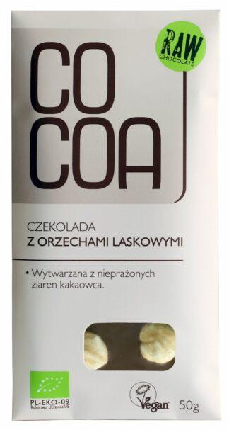 CZEKOLADA Z ORZECHAMI LASKOWYMI BIO 50 g - COCOA