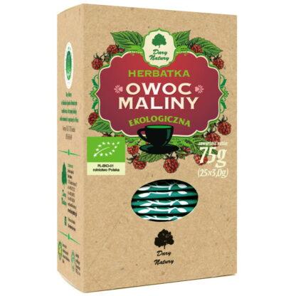 HERBATKA OWOC MALINY BIO (25 x 3 g) - DARY NATURY