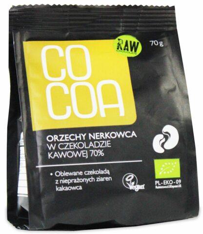ORZECHY NERKOWCA W CZEKOLADZIE KAWOWEJ BIO 70 g - COCOA