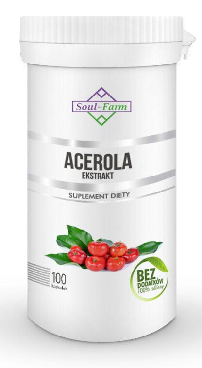 ACEROLA EKSTRAKT 600 mg 100 KAPSUŁEK - SOUL FARM