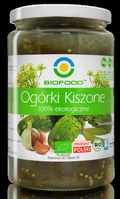 OGÓRKI KISZONE BEZGLUTENOWE BIO 700 g (400 g) - BIO FOOD